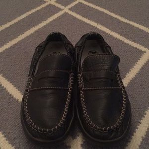 Boys Naturino dark brown leather loafer size 35